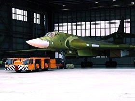 El modernizado Tu-160, listo para el despegue