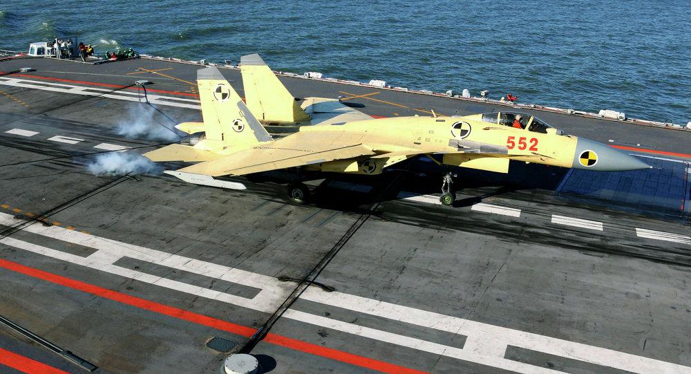 El avión de combate chino J-15
