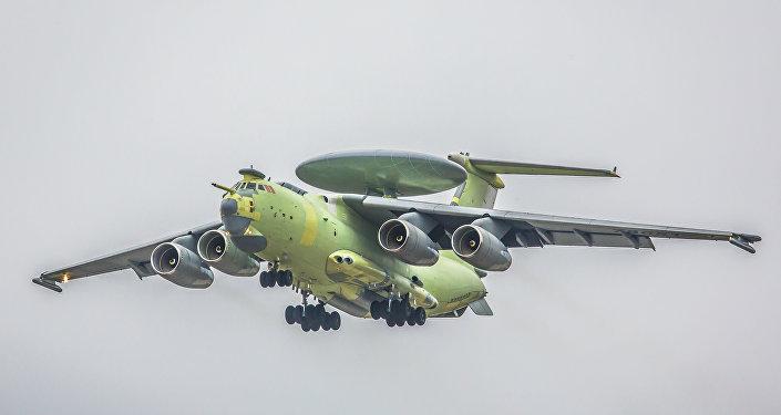 El avión ruso de alerta temprana y control aerotransportado A-100 (archivo)
