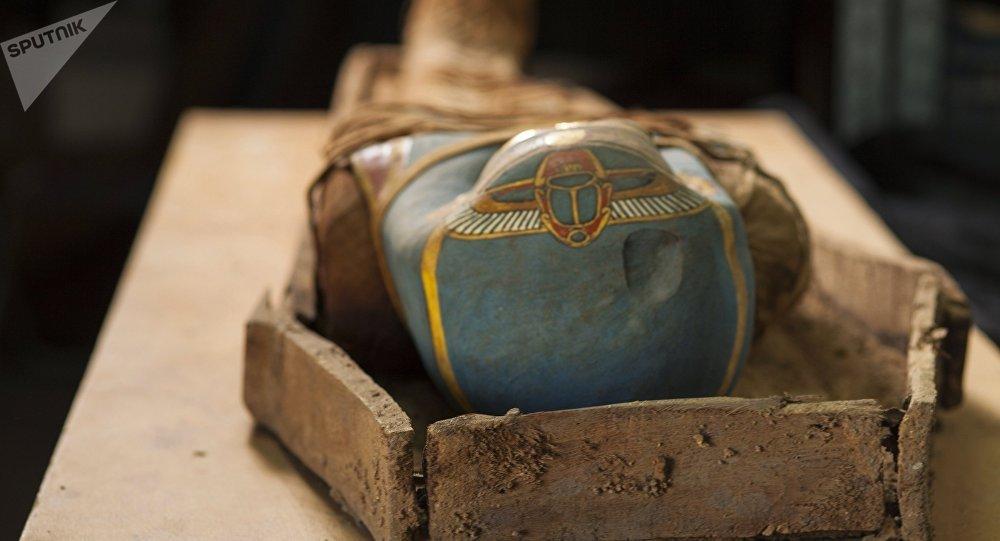 Una momia egipcia (archivo)