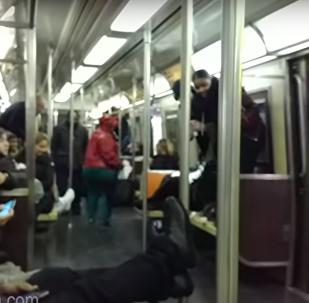Rata en el metro de Nueva York