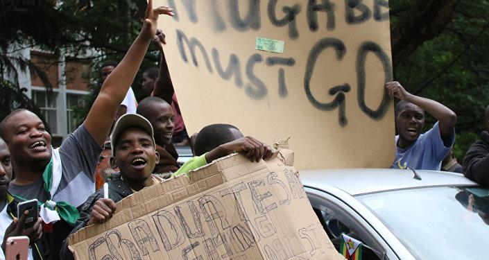 Protestas en contra de Robert Mugabe, presidente de Zimbabue