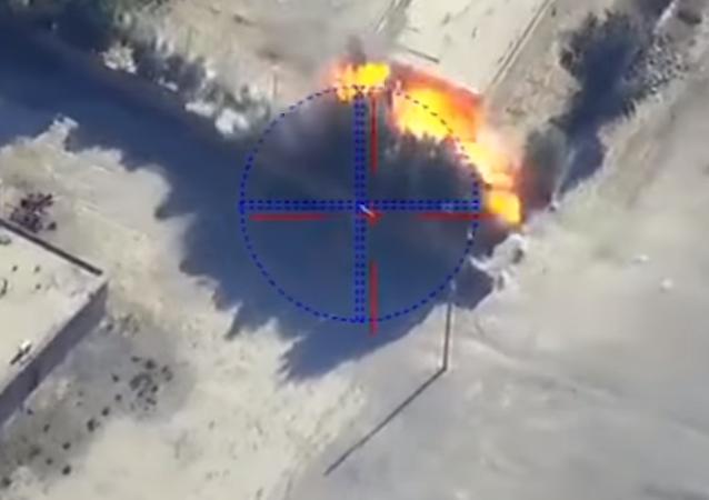 Así guía un dron a los misiles rusos para atacar a los terroristas