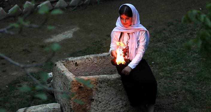 Una joven yazidí