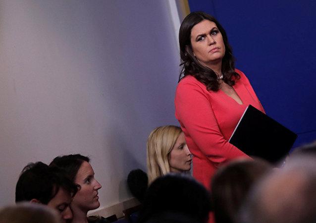 Sarah Huckabee Sanders, secretaria de Prensa de la Casa Blanca