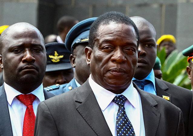 Emmerson Mnangagwa, exvicepresidente de Zimbabue (archivo)