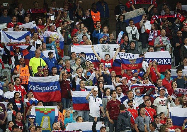 Hinchas rusos en la Euocopa 2016