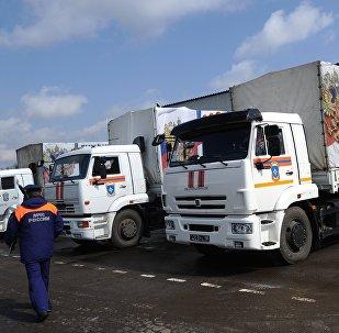 El convoy humanitario ruso para Donbás (archivo)