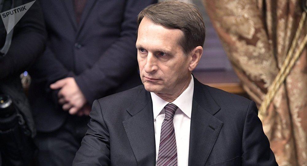 Serguéi Narishkin, director del Servicio Exterior de Inteligencia