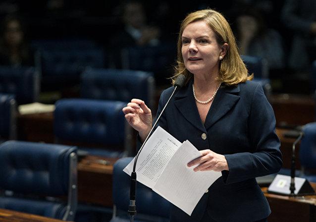 Gleisi Hoffman, la presidenta del Partido de los Trabajadores