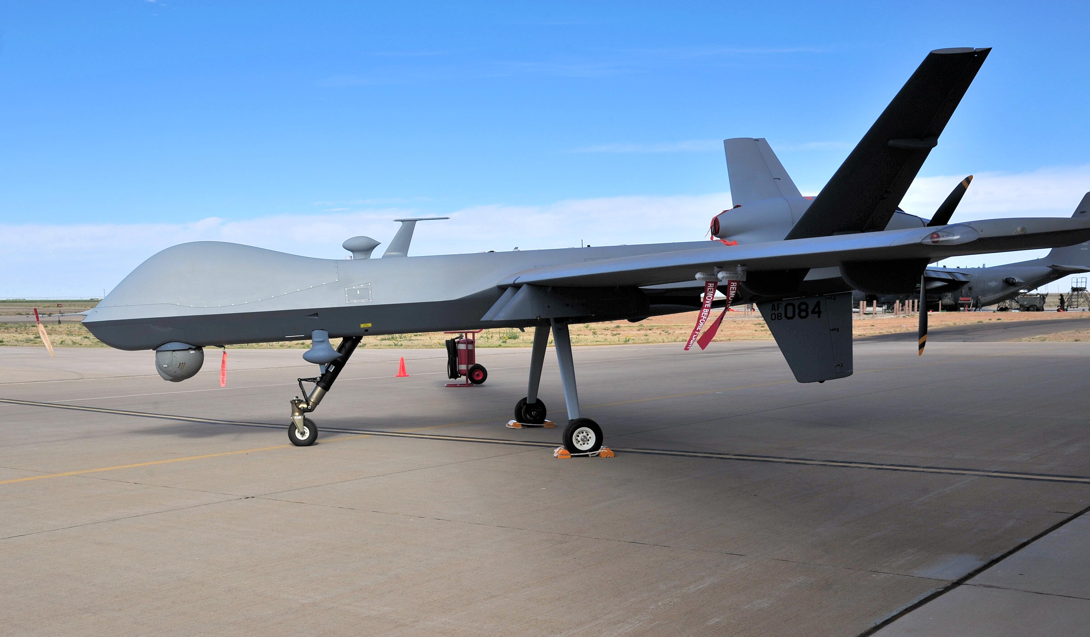 Un dron MQ-9 Reaper no tripulado