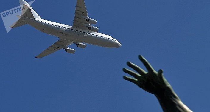 El avión ruso An-124-100 Ruslán