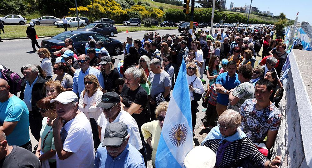 Demostración en apoyo a los familiares de los tripulantes de ARA San Juan