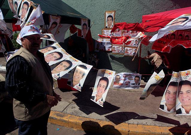 Retratos del candidato opositor Salvador Nasralla en Honduras