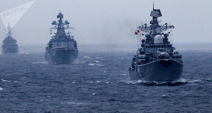 Los buques de la Flota Pacífica Rusa