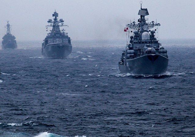 Los buques de la Flota Pacífica Rusa (imagen referencial)