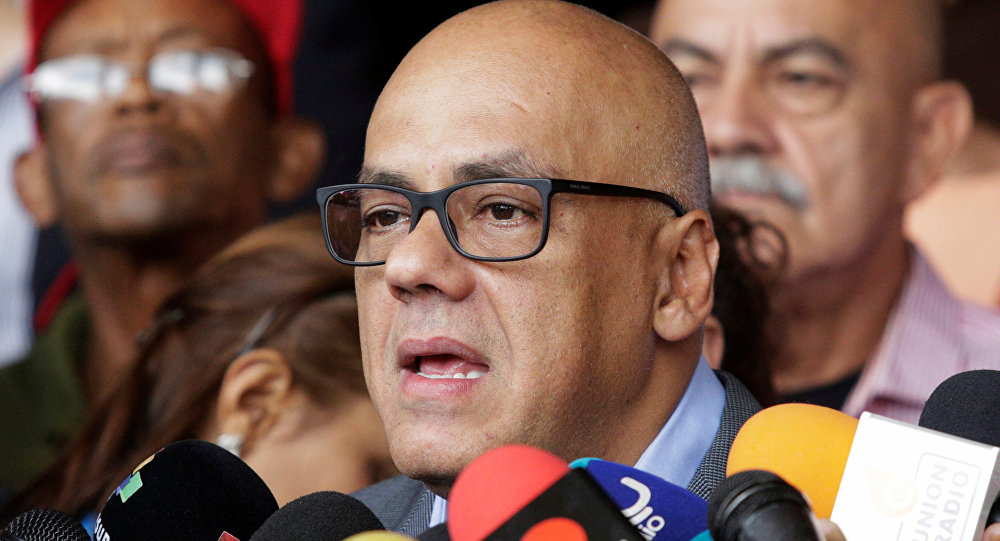 Jorge Rodríguez, ministro venezolano de Comunicación (archivo)