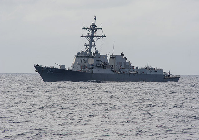 Destructor USS James E. Williams en el océano Atlántico (archivo)
