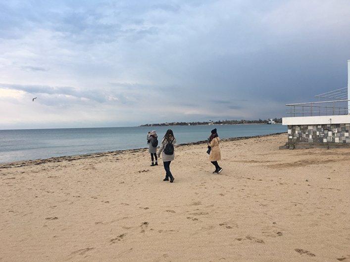 La costa del mar Negro en Eupatoria
