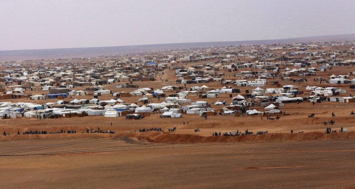 El campamento de refugiados Rukban (archivo)