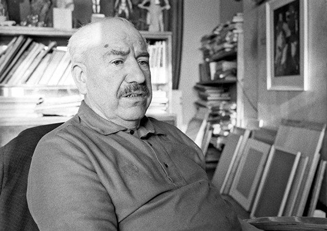 El pintor Aleksandr Deineka (archivo)