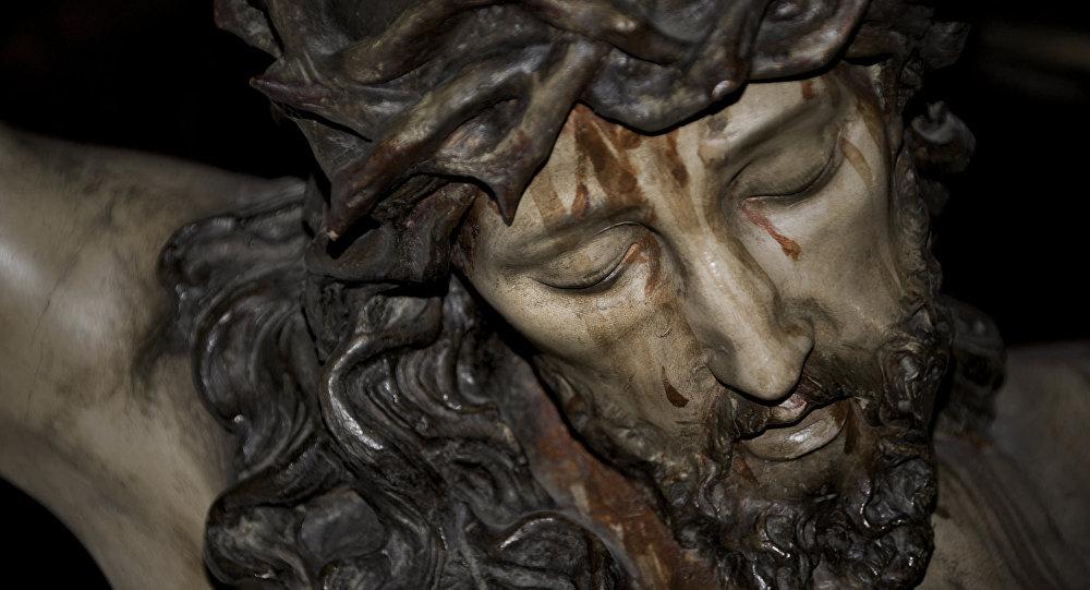 Una talla de Jesucristo (archivo)