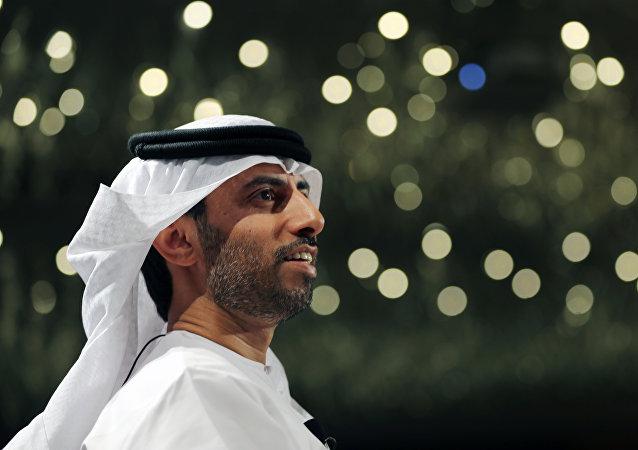 Suhail bin Mohamed al Mazrui, el ministro de Energía de los Emiratos Árabes Unidos