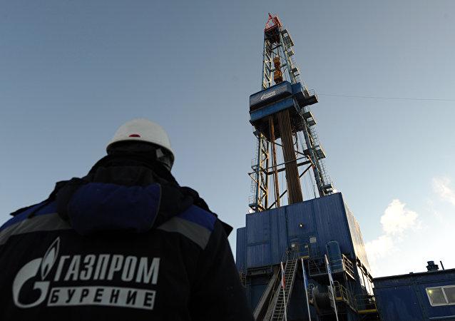 Una de las plataforma de perforación de gas de Gazprom
