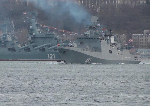 La fragata rusa Almirante Grigorovich vuelve al Mediterráneo