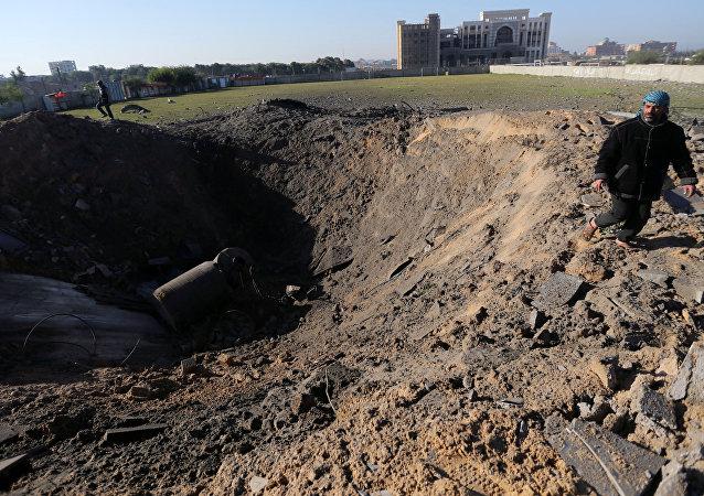 Ataque aéreo israelí en Gaza (archivo)