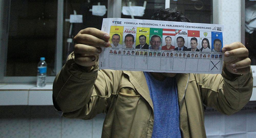 Un colegio electoral en Tegucigalpa, Honduras