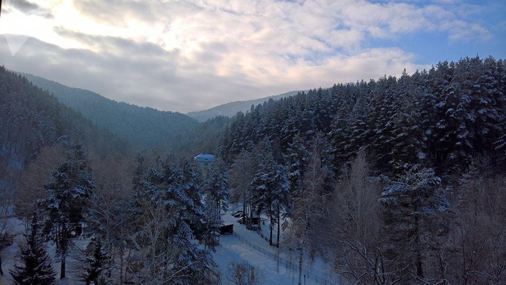 El terrencur en la montaña Tserkovka, Belokúrija, Altái
