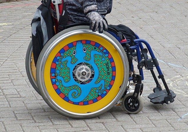 Una persona discapacitada