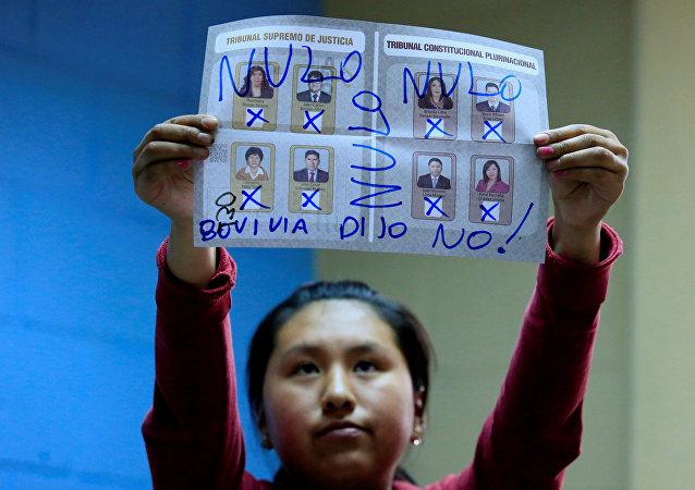 El voto nulo en elecciones judiciales en Bolivia