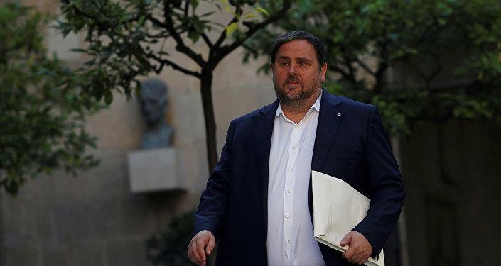 Oriol Junqueras, el vicepresidente cesado de Cataluña (archivo)
