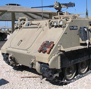 Un vehículo blindado M113