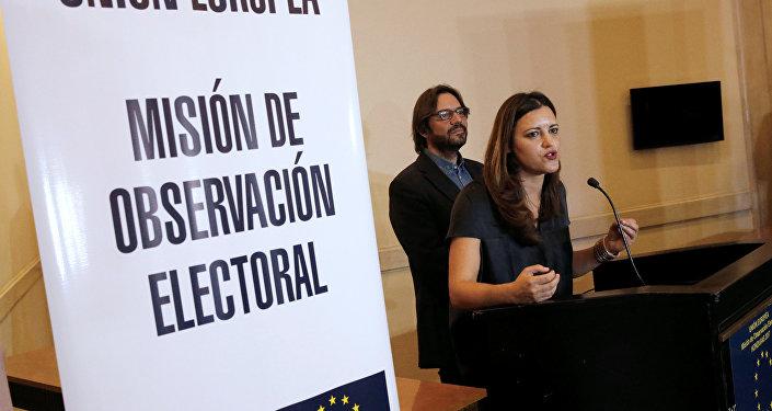 Marisa Matías, la jefa de la Misión de Observación Electoral de la Unión Europea