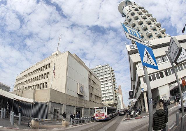 La embajada de EEUU en Tel Aviv, Israel