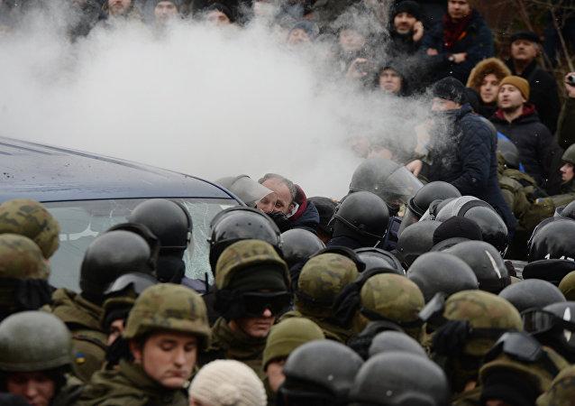 Los disturbios en Kiev, Ucrania