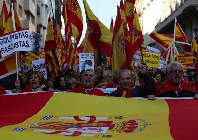 Manifestación contra la independencia en Barcelona