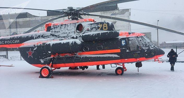El helicóptero Mi-8AMTSh-VA en la Fábrica de Aviación de Ulán Udé