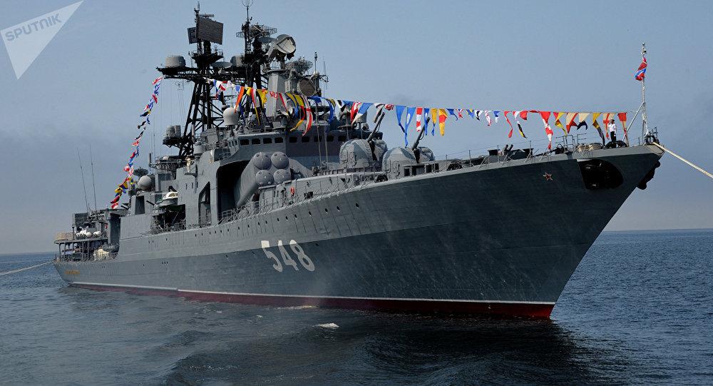 El destructor antisubmarino ruso Almirante Panteleyev (archivo)