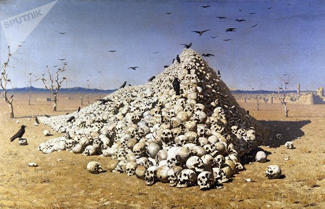 'La Apoteosis de la guerra' de Vasili Vereshchaguin (1871)