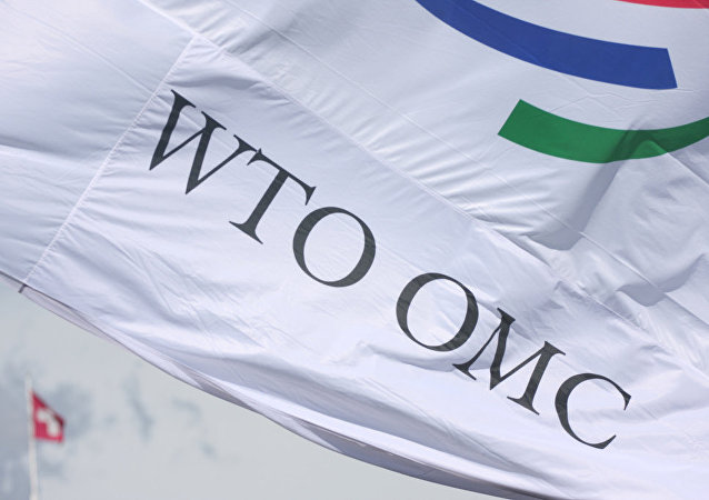 Bandera de la OMC (archivo)