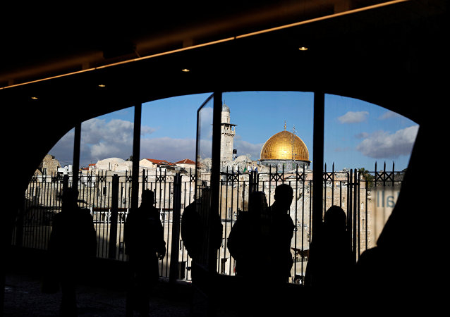 La vista desde el edificio de la Cúpula de la Roca, ubicado en la Ciudad Vieja de Jerusalén