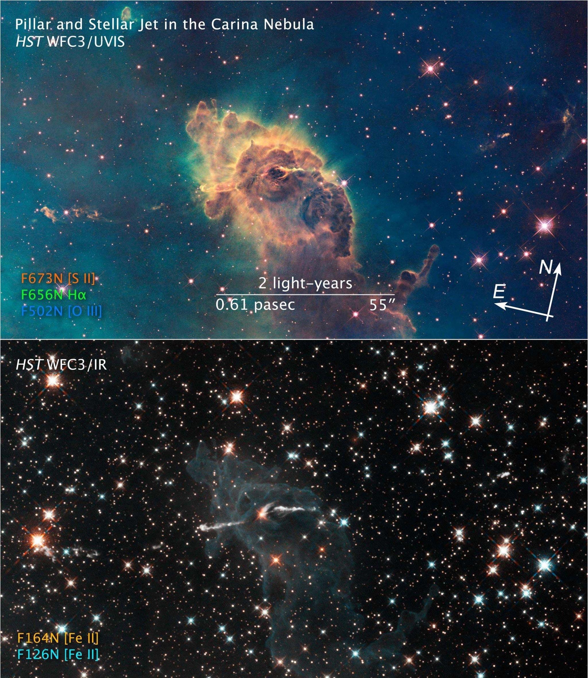 Herbig-Haro 666 en la Nebulosa Carina