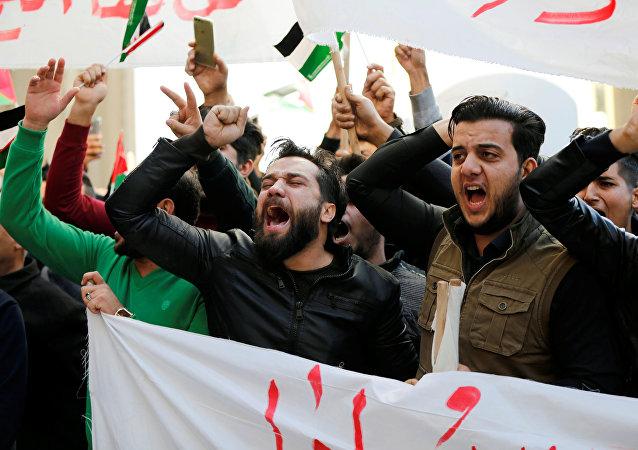 Protestas en Irak por la decisión de Donald Trump sobre Jerusalén