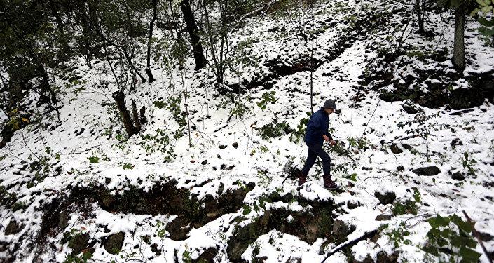 Frente frío y nevadas en el norte de México