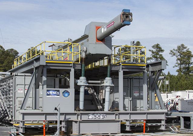 El prototipo del cañón de riel estadounidense