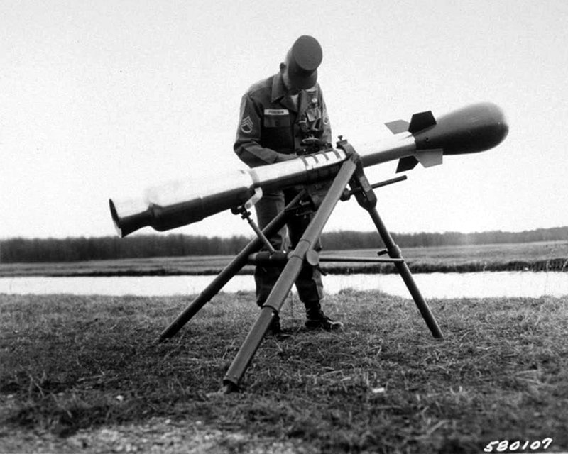 El cañón M-29 Davy Crockett
